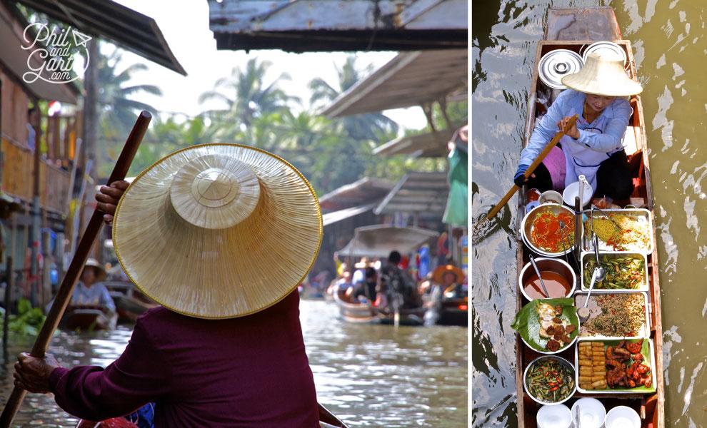 Damnoen_Floating_Market_Bangkok_video_and_review