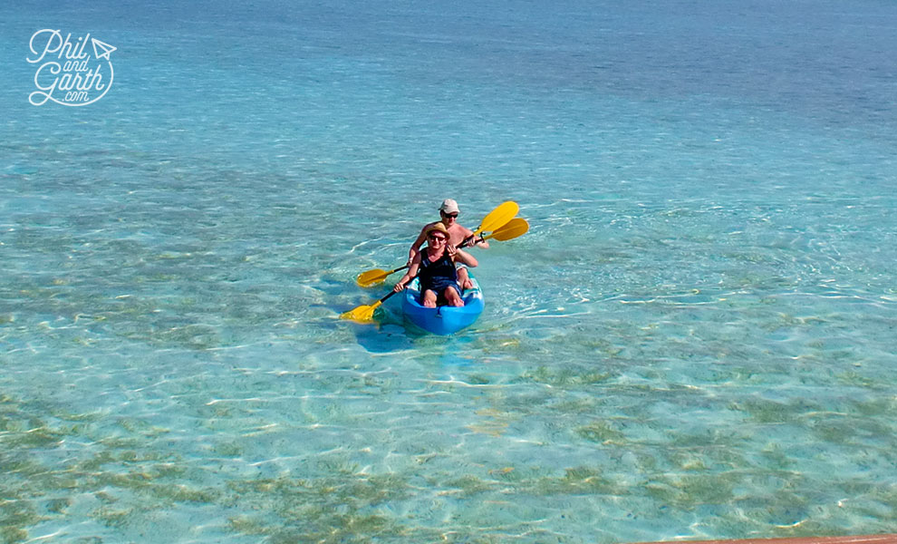meeru_island_resort_phil_and_garth_-Kayaking_review_and_video