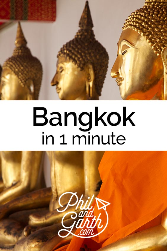 Watch Bangkok in 1 minute - sightseeing, must see sights, things to do, top 5 tips, food review, photography inspiration, advice and information. Read our full travel guide on our blog www.philandgarth.com