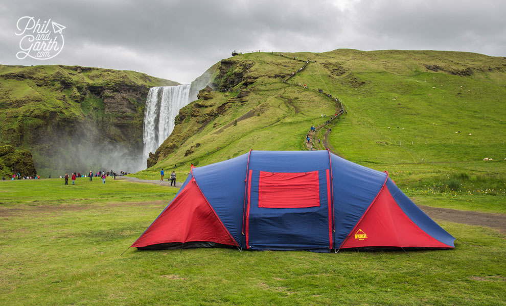 Iceland-south-Skogafoss-waterfall-camping-travel-review