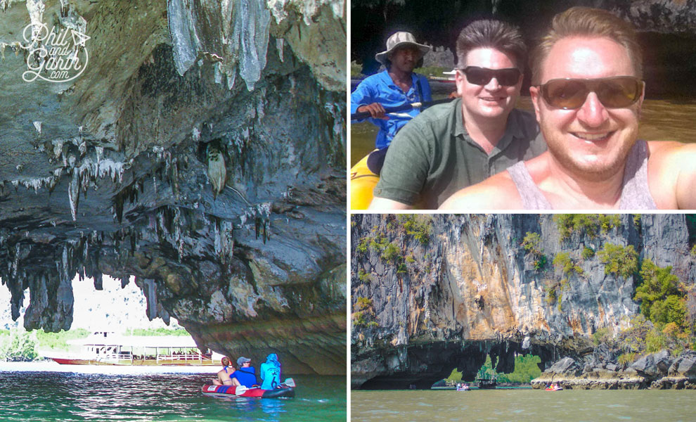 Sea canoeing in Phang Nga Bay