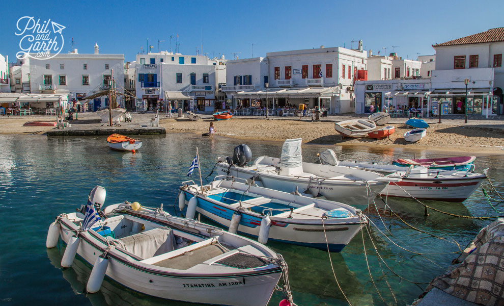 Mykonos Town's harbour