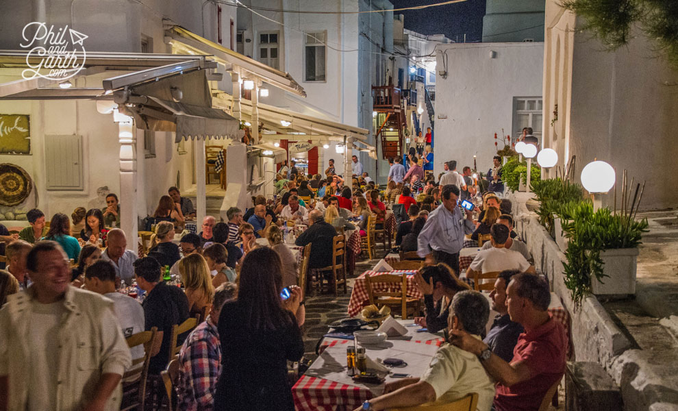 Evenings in Mykonos Town