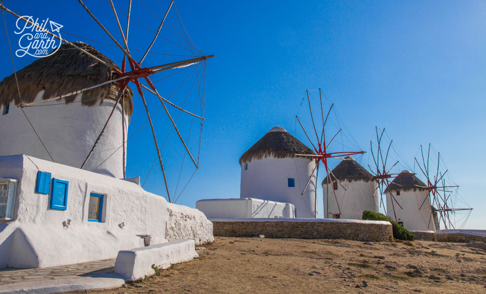 The landmark windmills of Mykonos