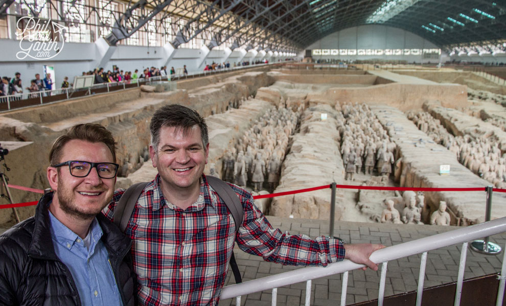 Garth and Phil with The Terracotta Army