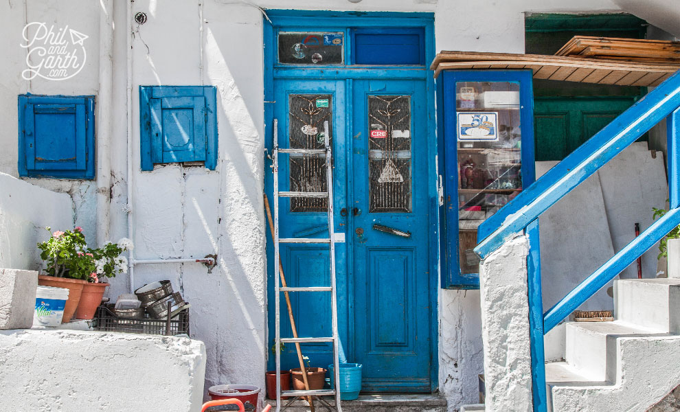 An small Ouzo shop