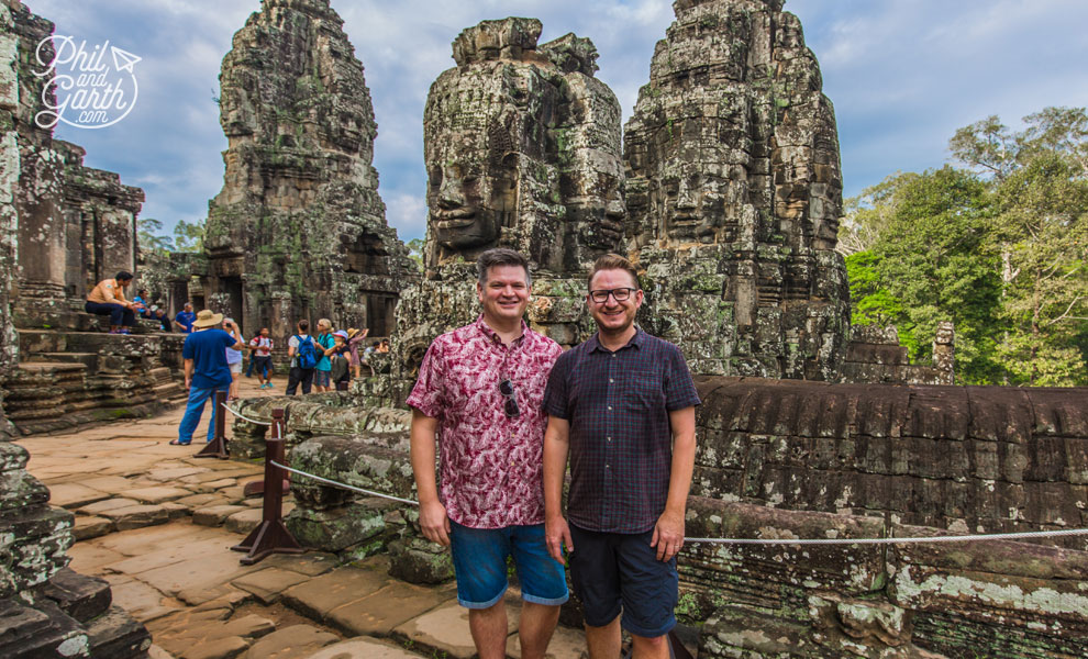 Phil and Garth inside the Bayon Temple