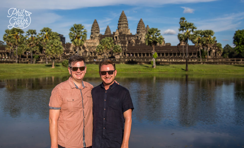 Phil and Garth infront of Angkor Wat