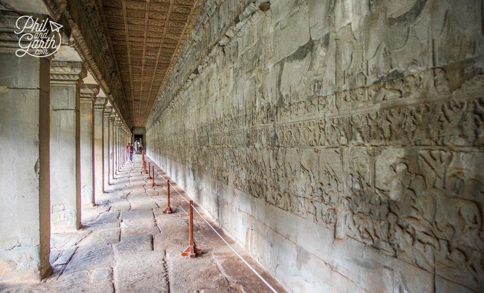 Angkor Wat's impressive bas reliefs