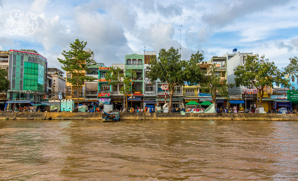 Riverside buildings of Ben Tre