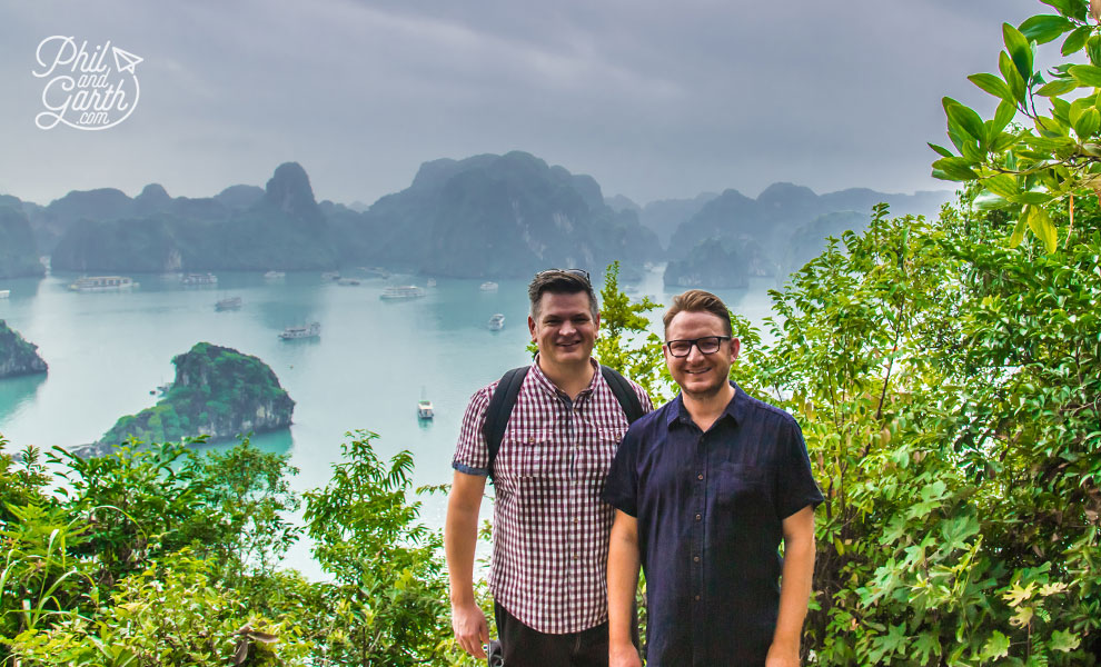 Phil and Garth at Halong Bay