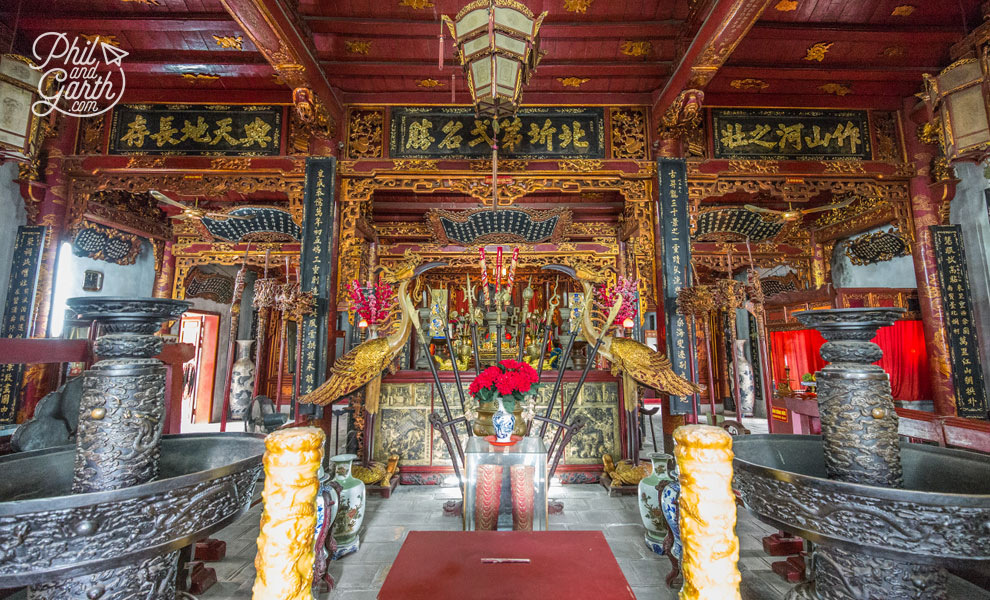 Inside the Quan Thanh Temple