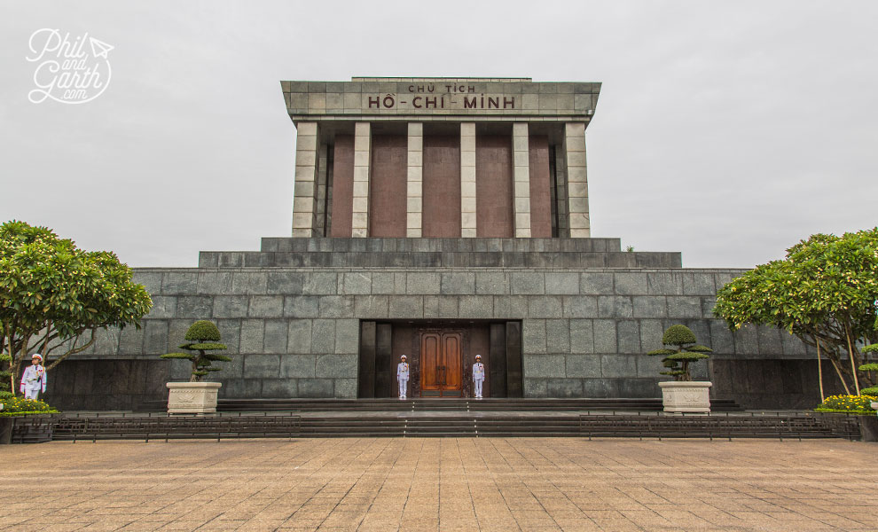 The imposing Ho Chi Minh Mausoleum