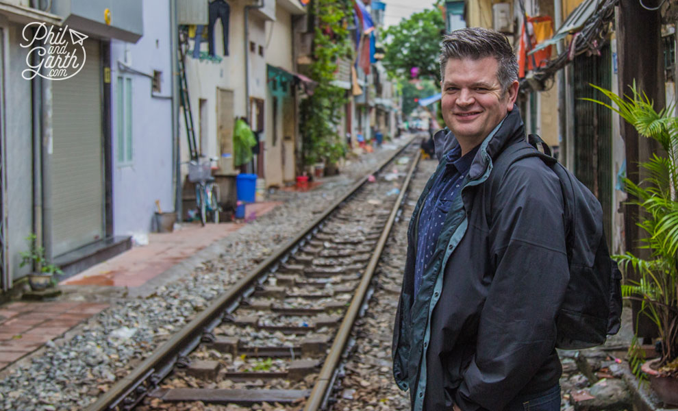 Phil on Hanoi's train street