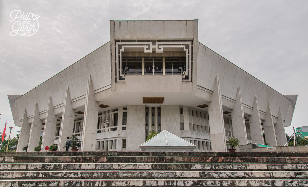 Communist style architecture of the Ho Chi Minh Museum