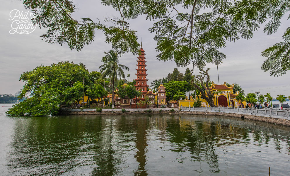 The Tran Quoc Pagoda reflected in the water