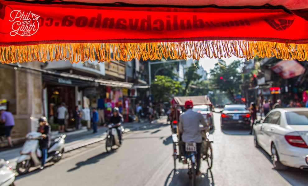 Cyclo rides offer unique views in the thick of the traffic