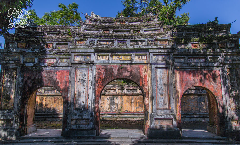 An old gate within the Imperial City
