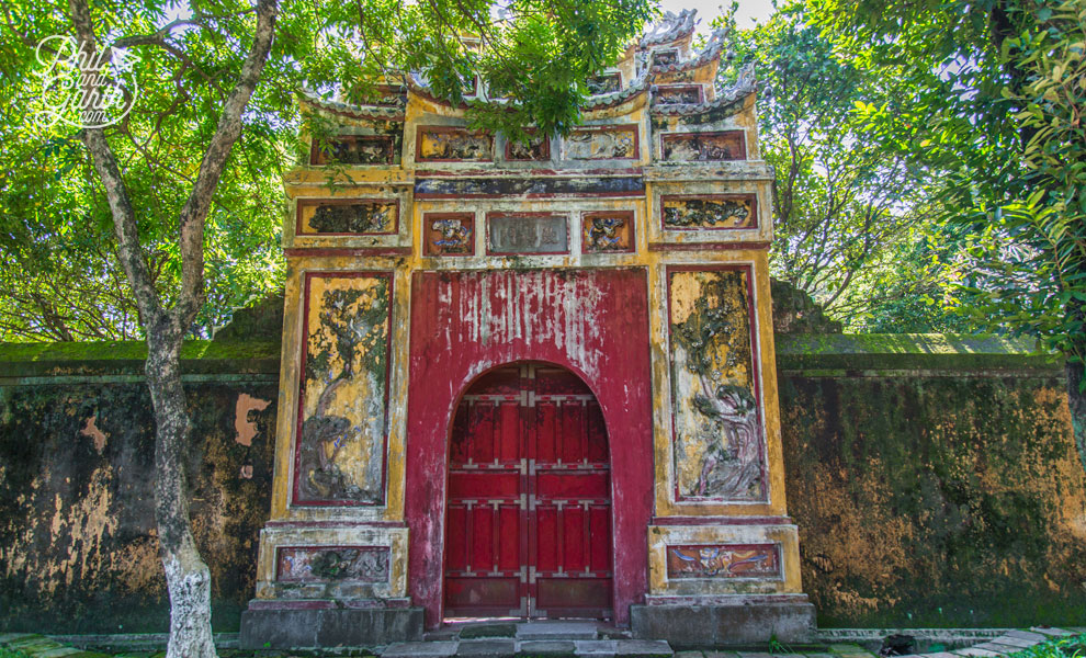 An old gate within the walls of The Imperial City