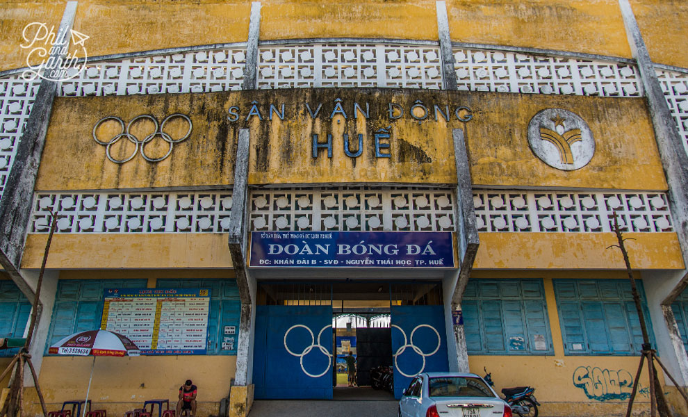 Old Olympic stadium in Hue
