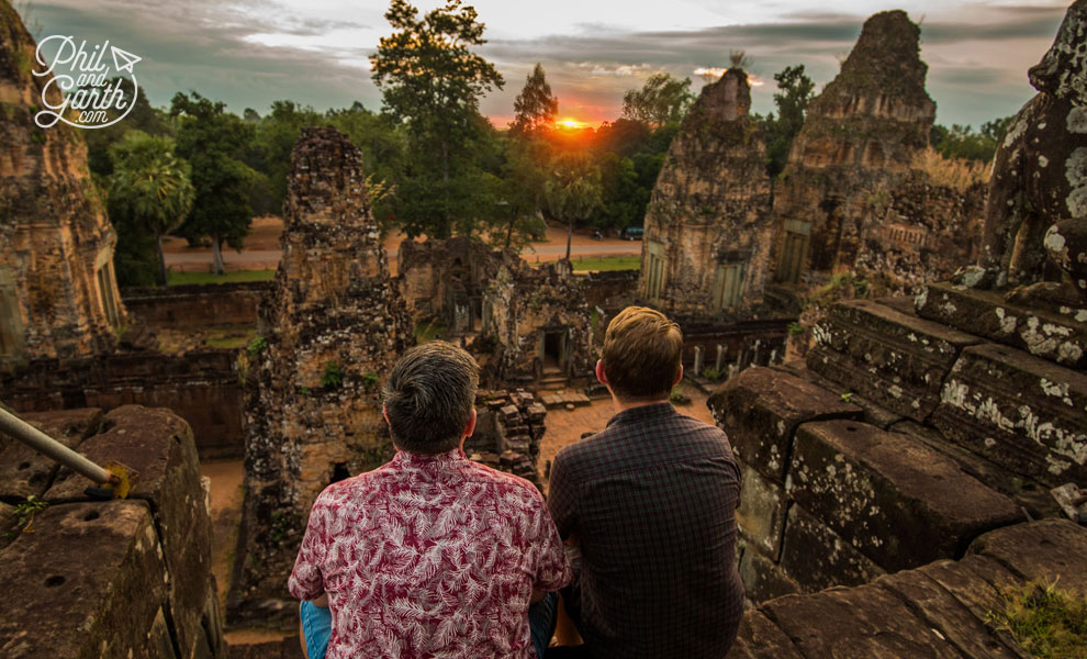 Magical sunrise at Pre Rup