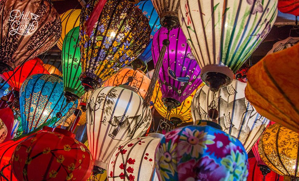 Silk lanterns are everywhere