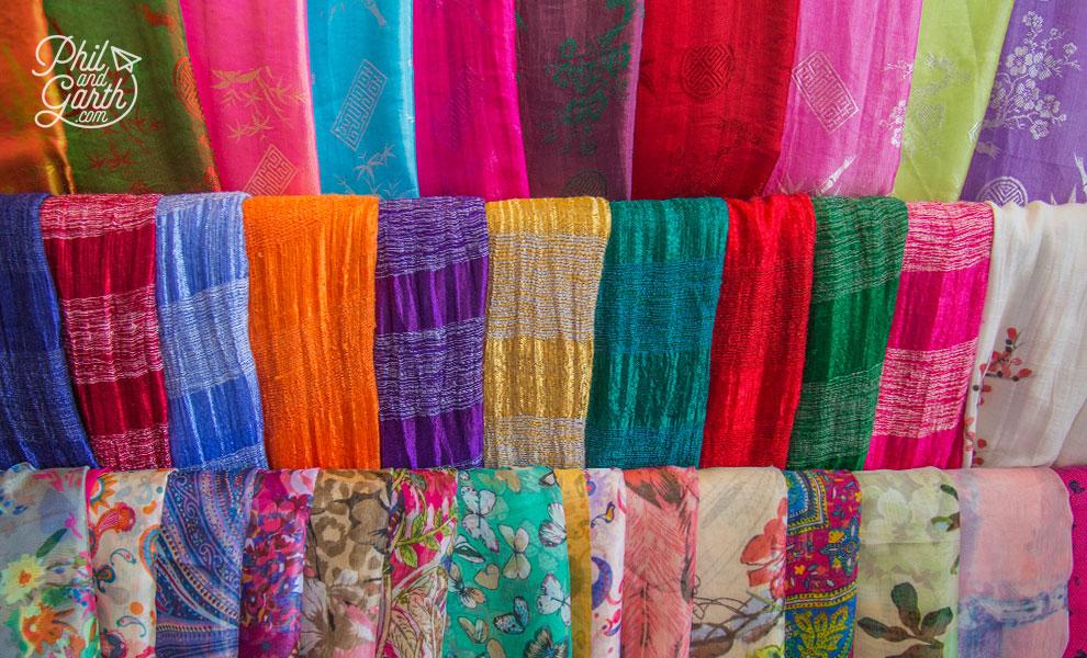 Silk scarfs for sale
