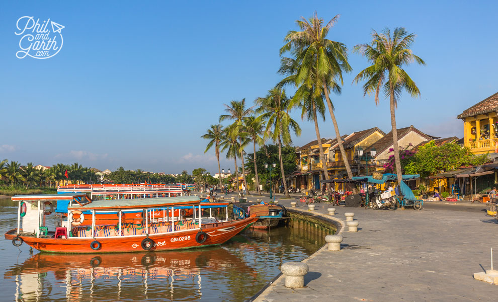 Hoi An waterfront boats