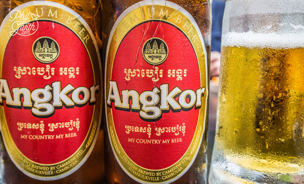 Ice cold Angkor beers