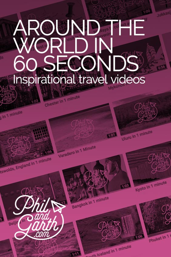 Need some quick travel inspiration? Watch our 60 second travel guides