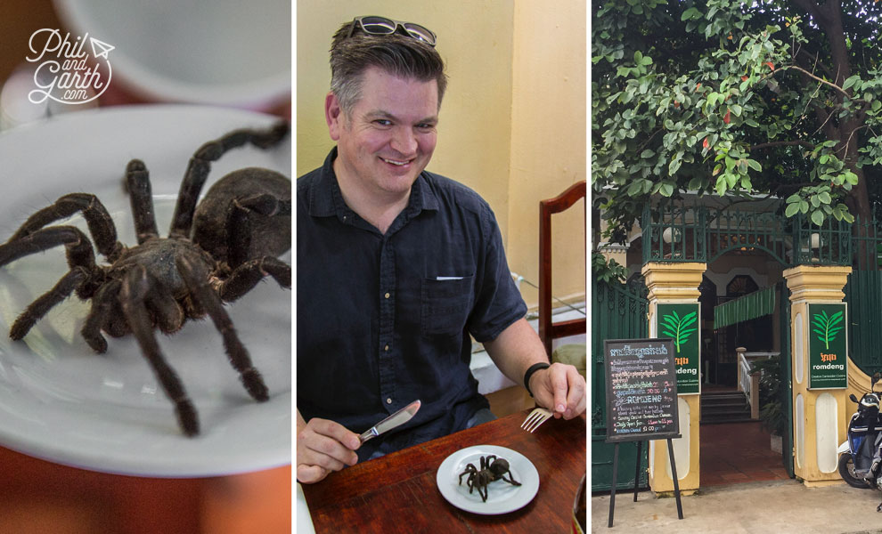 Eat fried tarantula at Romdeng