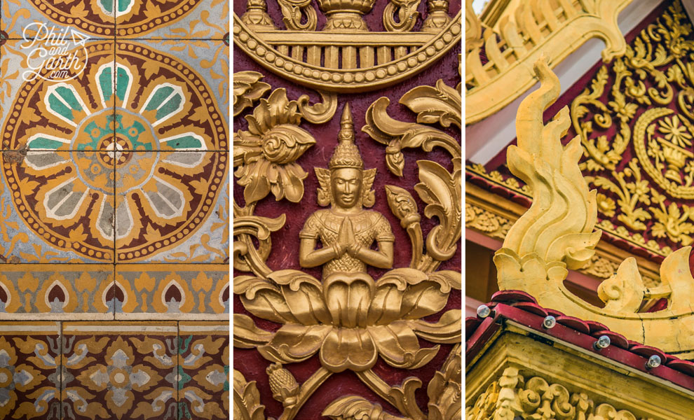 Ornate gilding of the Throne Hall