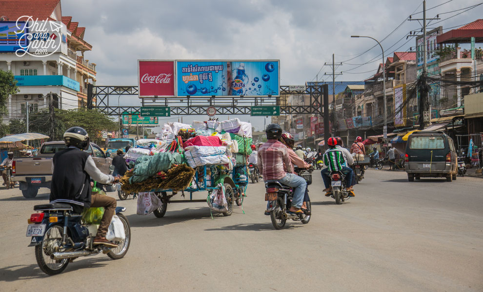The traffic of Phnom Penh