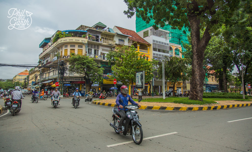 Most of Phnom Penh's streets are wide boulevards