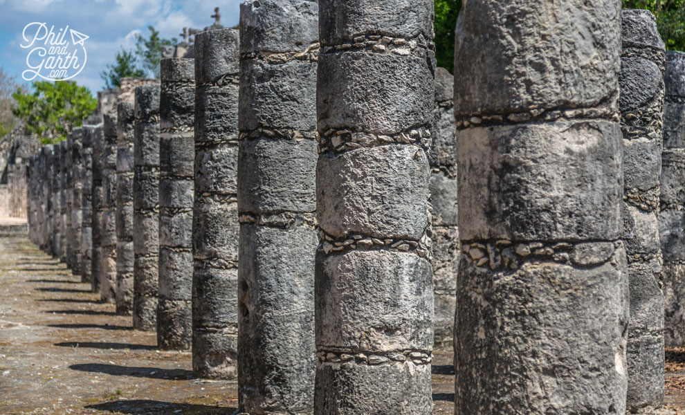 More rows of pillars that may have held up a roof