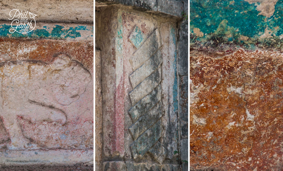 Clues to the past - paint on some of the walls