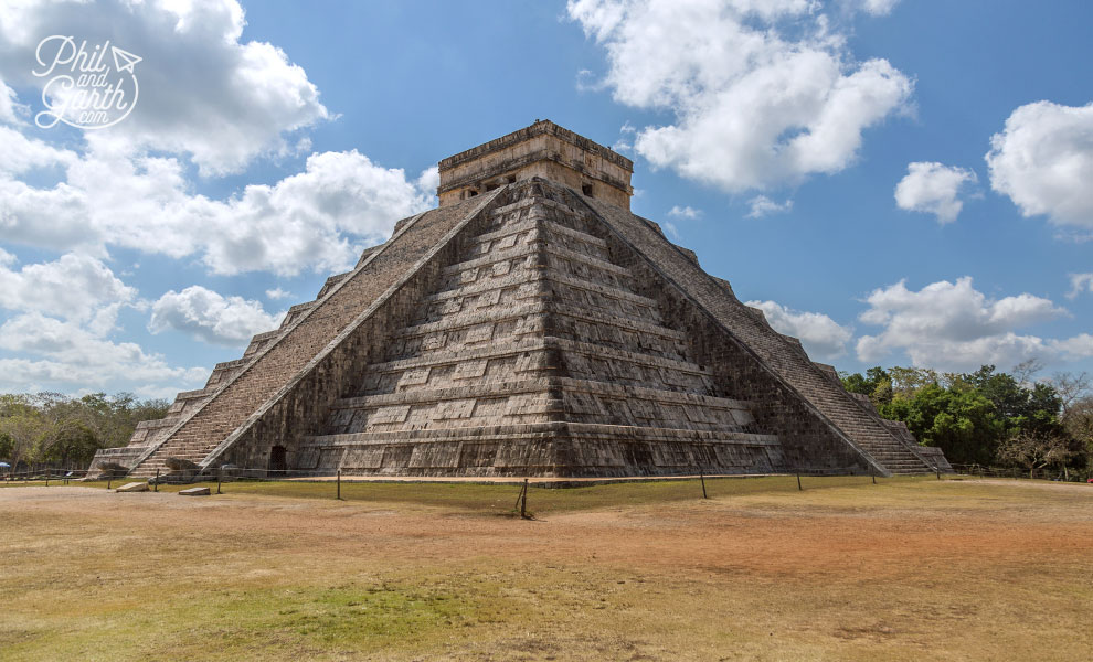 The highlight of Chichen Itza - The Pyramid of Kukulkán