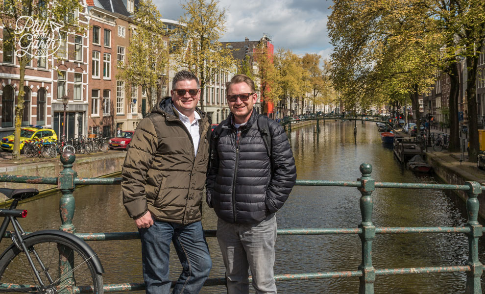 Phil and Garth in Amsterdam