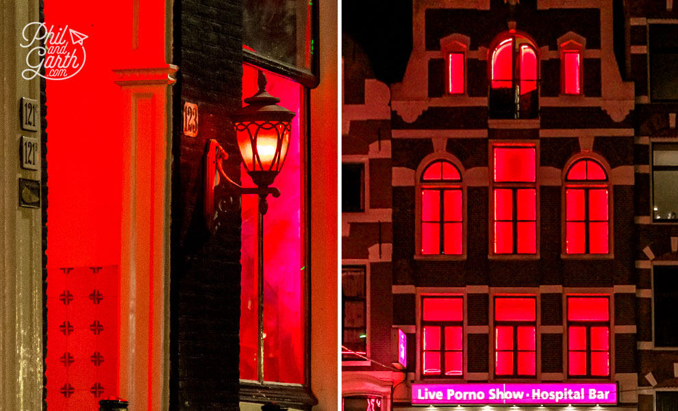 The distinct red lights of De Wallen