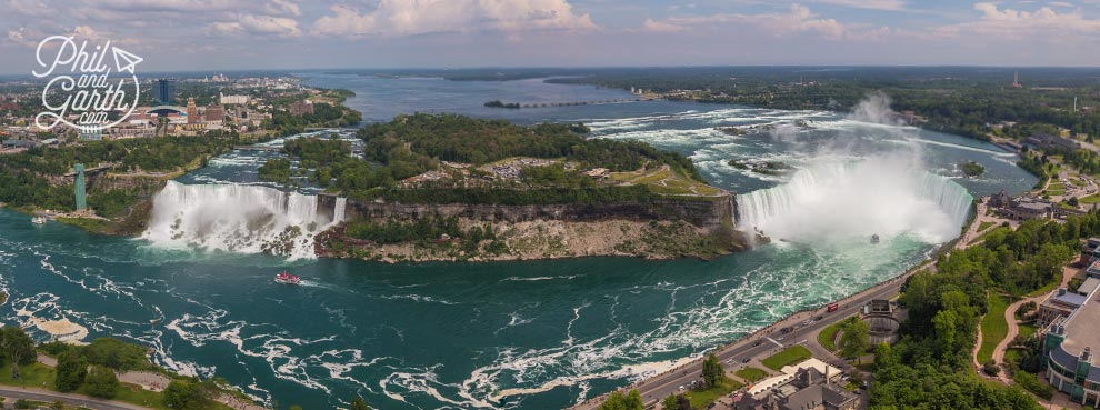Panoramic views from the Skylon Tower