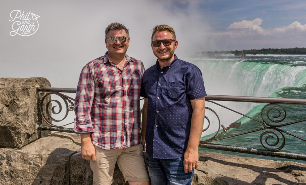 Phil and Garth at Niagara Falls