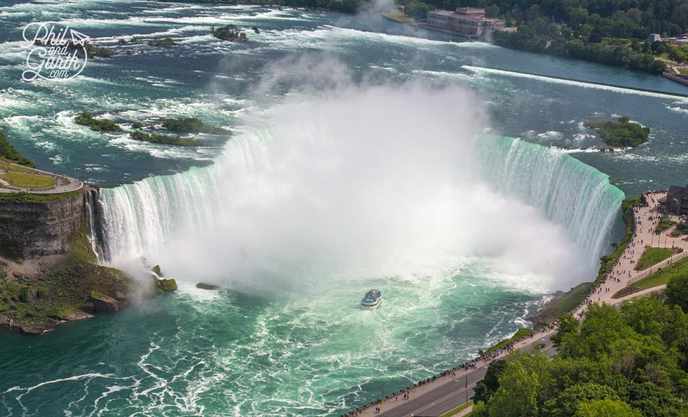 View of the Canadian Falls from Skylon's observation deck