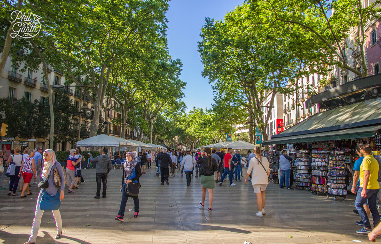 La Rambla Barcelona's most famous street