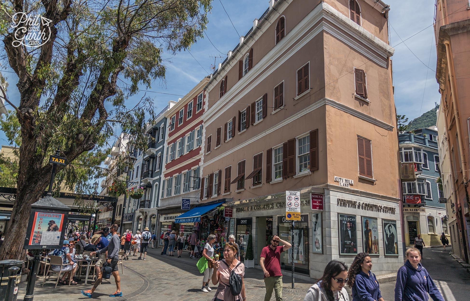 Bustling Main Street Gibraltar