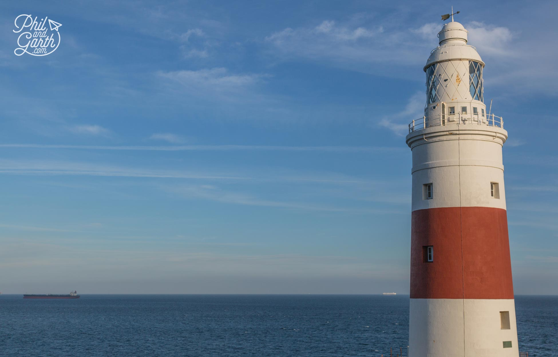 Europa Point lighthouse the southernmost point of Gibraltar
