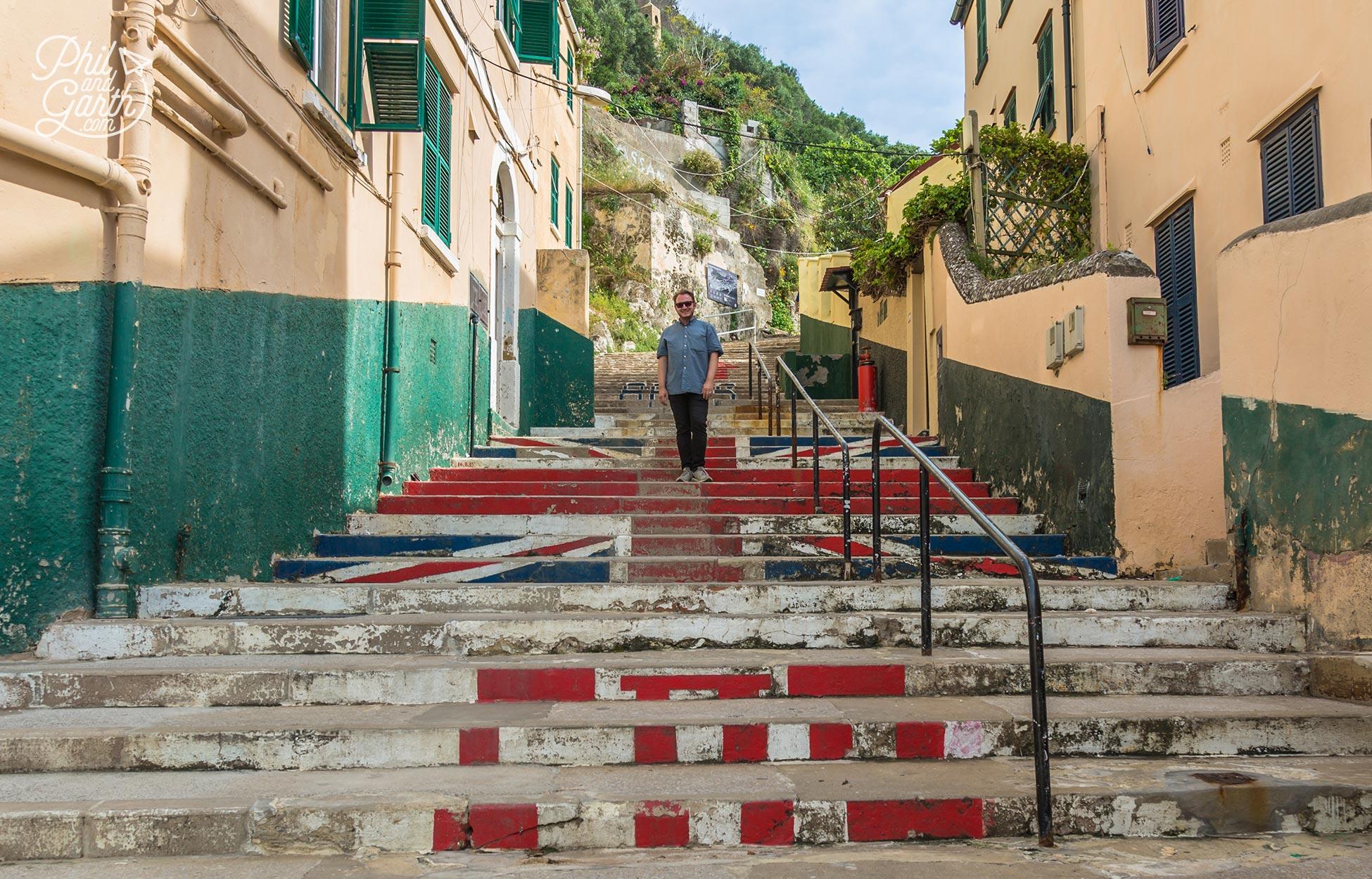 Garth on the steps of Devils Steps