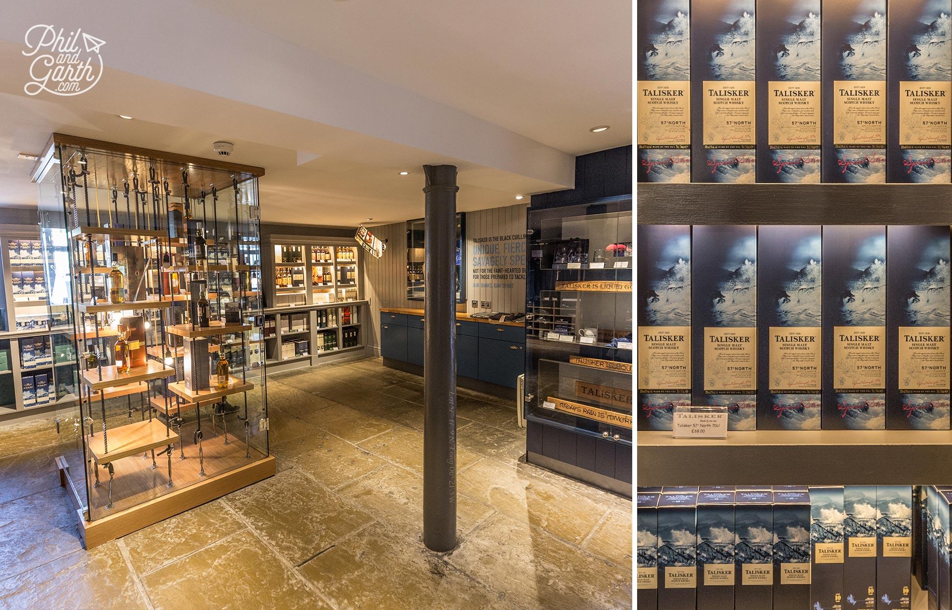 Inside the Talisker Distillery Shop