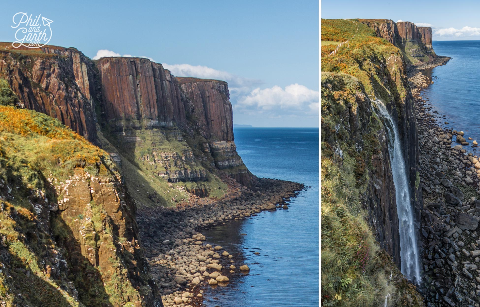 The pleats and pillars of Kilt Rock and Mealt Falls
