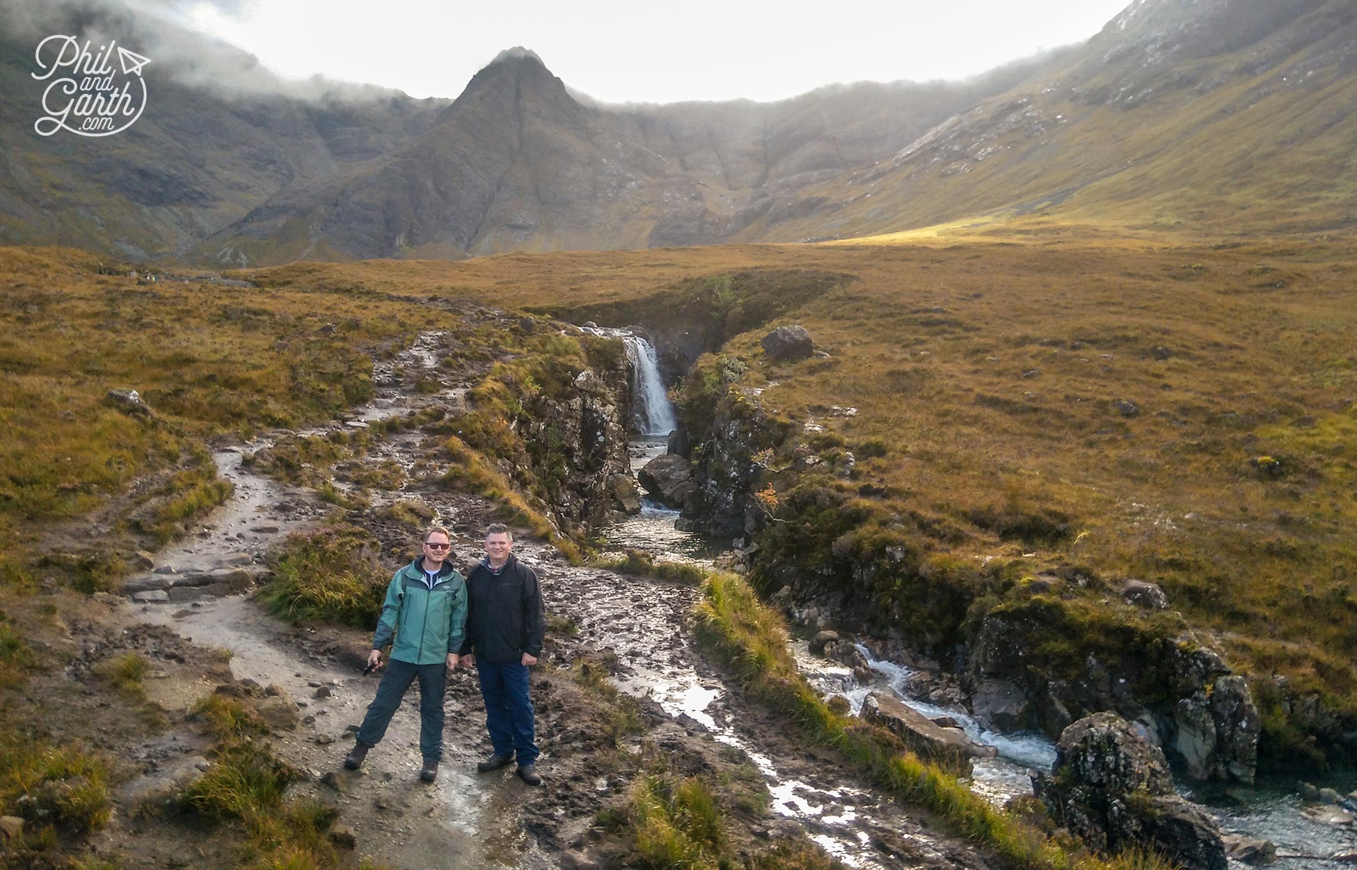 Phil and Garth at the Fairy Pools