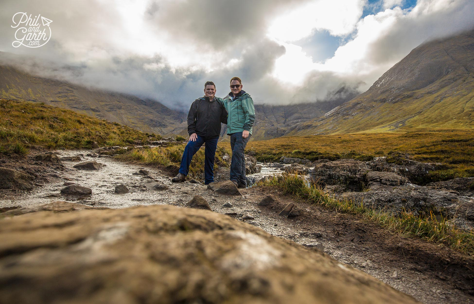 Phil and Garth on the Isle of Skye